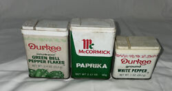 Vintage Durkee And Mccormicks Spice Tin Lot