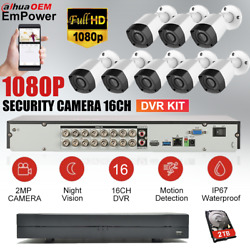 1080p 16 Channel H.265+ Dvr With 8x Hd Cameras Cctv Security Camera System Kit