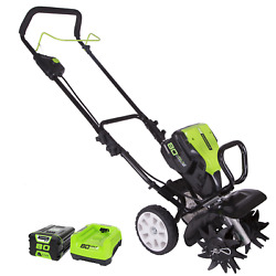 Greenworks 80v 10 In Cordless Cultivator And 2ah 80v Battery W Rapid Charger