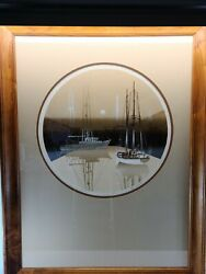 Virgil Thrasher Five Boats Signed And Numbered Print