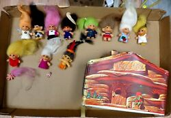 Vintage Troll Lot 1950and039s 1960and039s 1970and039s - + Original Owner Estate