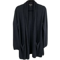 Barefoot Dreams Xl Bamboo Chic Lite Open Front Sweater Cardigan Navy Blue