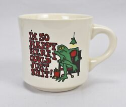Vintage Iand039m So Happy Here I Could Just Sh@t Frog Coffee Mug