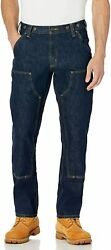 Menand039s Rugged Flex Relaxed Fit Heavyweight Double-front Utility Logger J