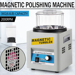 110v Magnetic Tumbler Jewelry Polisher Machine Finisher 180mm Kt185 Time Control