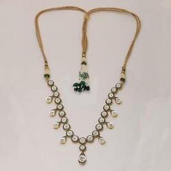 Natural Uncut Diamond Polki 925 Sterling Silver Victorian Queen Necklace