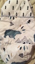 Sweet Jojo Diaper Changing Table Pad Cover For Blue Bear Mountain Baby Bedding