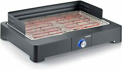 Severin Pg 8560 Table Grill With Barbecue Grid 2200w Black Bbq Electric