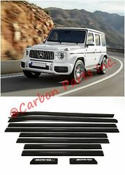 W464 W463a Side Molding Set Piano Black Amg Style Mercedes G-class 2019+