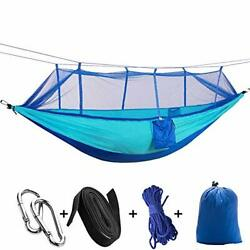 Bonqua Single amp; Double Travel Hammock with Bug Net for Trees Outdoor Portable...