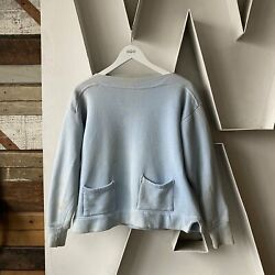 Vietnam 40s 50s Boat Neck Sweat - Large Probably Champion Pocket Gusset Nice Yes