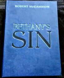Bethanyandrsquos Sin By Robert Mccammon Subterranean Press Lettered Edition. Letter V