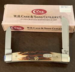 1996 Case Xx 52052 Red Stag Congress Pocket Knife Rare