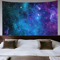 Galaxy Tapestry Blue Starry Sky Tapestry Universe Space Tapestry Wall Hanging Ps