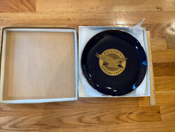 Vintage Pratt And Whitney Aircraft Dependable Engines Large Plate Plaque In Box