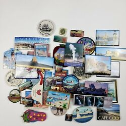 Vintage Lot Of 39 Assorted Us Cities And Places Refrigerator Magnets Souvenirs