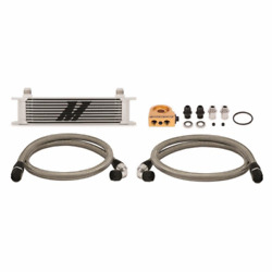 Mishimoto Universal Thermostatic 10 Row Oil Cooler Kit   Silver