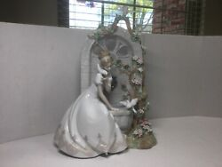Lladro Andldquospring Of Loveandrdquo 1876 Porcelain Sculpture Hand Signed By Lladro And Perez