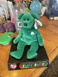 Ty Beanie Baby Erin The Bear 1997 Retired With Display Box