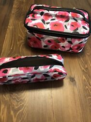 Kate Spade large Colin flower cosmetic bag pink $50.00