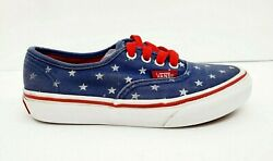 Vans Off The Wall Blue White Lace Up Kids Girl#x27;s Sneakers Shoes Size 13 US