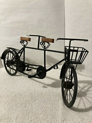Vintage Decorative Tandem Bicycle Built For Two 23 X 11 Display Moving Parts