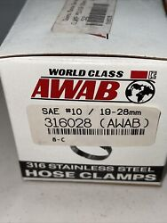 Awab 316ss Hose Clamps Size 1019-28mm3/4-1 1/8andrdquo P/n 316028