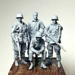 1/35 Ancient Officer Crew Include 4 Man Resin Figure Model Kits Miniature Gk