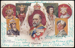 Sg215 1902 Andfrac12d. Blue Green On Coronation Day Souvenir Picture Post Card.