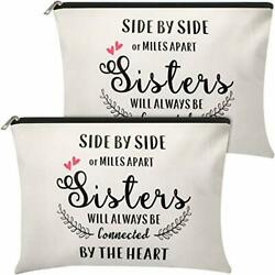2 Pieces Makeup Bag Sister Gifts from Sister Brother Personalized Cosmetic Ba... $18.82
