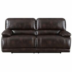 E-motion Furniture Polyester Fabric Deep Seating Recliner Sofa In Dark Brown