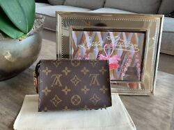 🔥Brand New LOUIS VUITTON TOILETRY POUCH 15 Monogram Clutch Bag $495.00