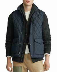Polo Iconic Quilted Vest Navy Blue Menand039s Size Large L New Nwt ⭐️