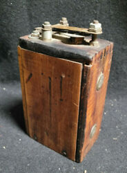 Antique Brass Kw For Ford Model T Or Model A Wood Battery Box Ignition Coil A