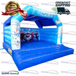 13x13ft Inflatable Frozen Bounce House Bouncy Castle Bouncer With Air Blower