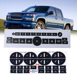 Car Vinyl Decals Stickers For Gm Gmc Radio A/c Climate Control Button Repair