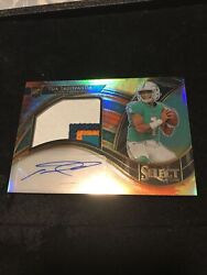 2020 Select Tua Tagovailoa Tie Dye Rpa 8/15 Rookie Patch Auto Sp Rc 🐬 Dolphins