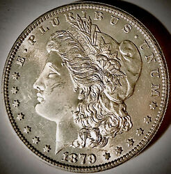 1879-s Morgan Silver Dollar-gem++ Outstanding Coin Seriously L👀k-make An Offer
