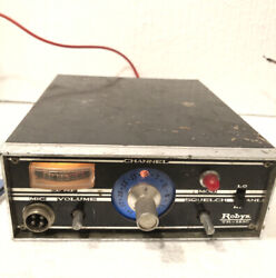 Vintage Robyn Tr-123c Cb Radio @powers On@ For Parts Not Working