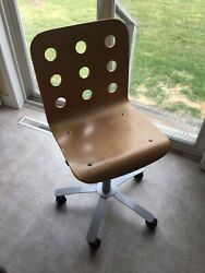 Ikea Wooden Spinning Office Desk Chair With Wheels