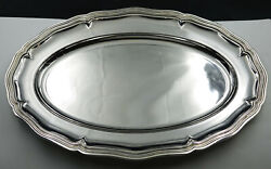 Wonderful French Christofle Spatours Silver Plate Large Serving Tray Ca 1935