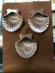 And Co. Vintage 925 Sterling Silver Set Of 3 Seashell Candy Dish