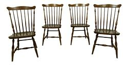 F51813ec Set Of 4 Hitchcock Windsor Style Dining Room Chairs
