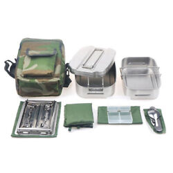 Military Canteen Cookware Set Camping Canteen Mess Kit Stainless Steel D3t3