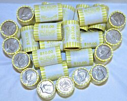 26 Unsearched Bank Sealed Kennedy Half Dollar Rolls 520 Free Ship