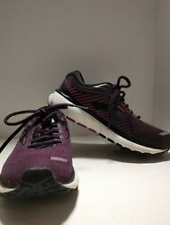 Brooks Ghost 12 Black Hollyhock Purple And Pink Running Shoes Womenand039s Size 7-read