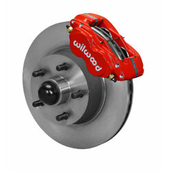 Wilwood For Ford/mercury 1960-1968 Brake Forged Dynalite-m Front 11.30in Red