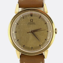 Vintage 1950s Omega Automatic Gents Wristwatch 18ct Yellow Gold