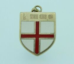 9ct Gold Pendant - 9ct Yellow Gold St Georgeand039s Shield 1966 Pendant