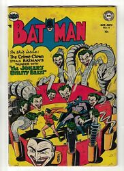 Dc Comics Batman 73 Golden Age 1952 Fn- 5.5 Appearance Joker Utility Belt